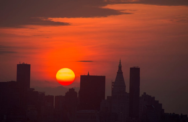 NYC Sunrise Up Close and Personal. Photo by Alina Oswald.