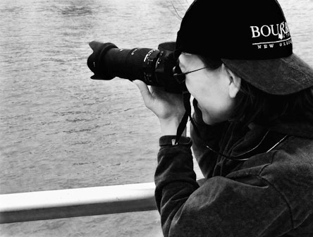 Photographer at Work. Photo by Alina Oswald.