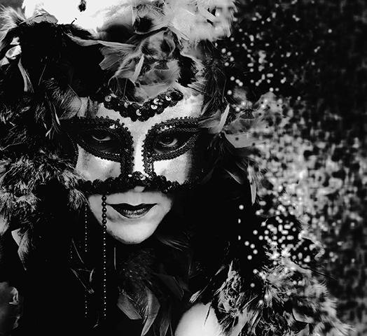 Mask-arade. A Self-Portrait. Photo by Alina Oswald.