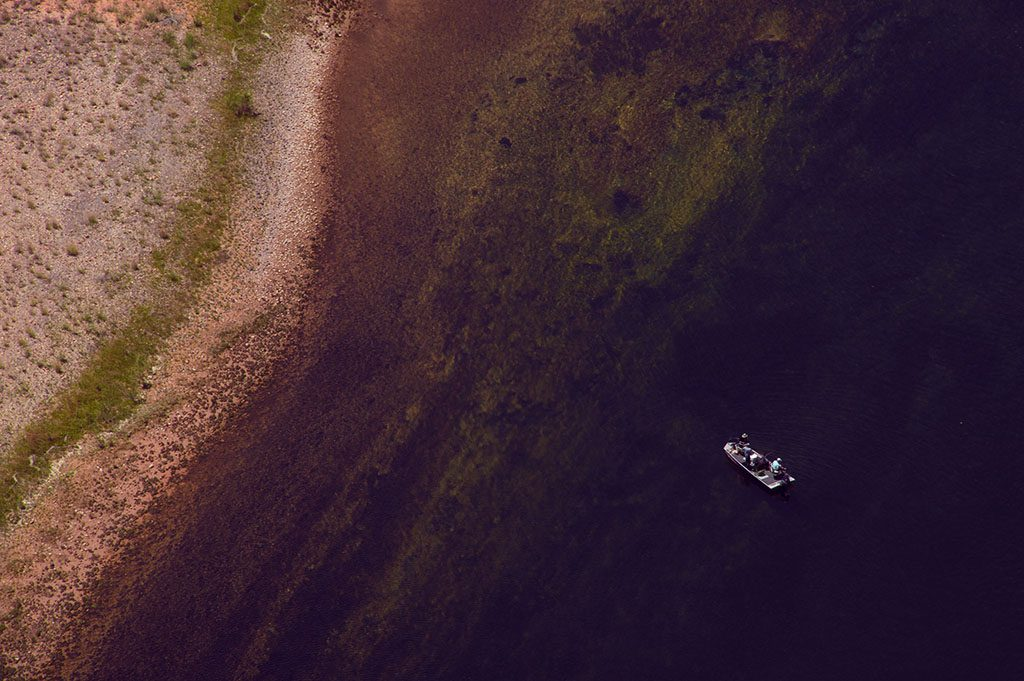 Boat reaching the shore.