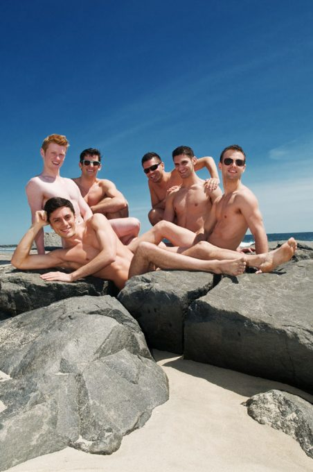 The cast of Naked Boys Singing - cover image for Out IN Jersey Magazine, 2012