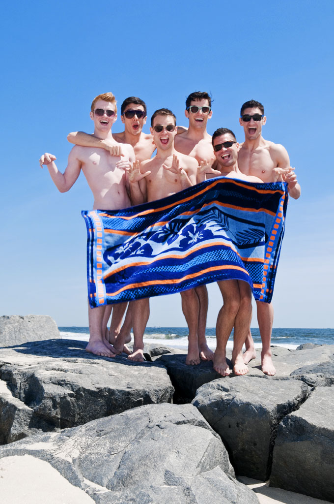 The cast of Naked Boys Singing photographed for Out IN Jersey Magazine