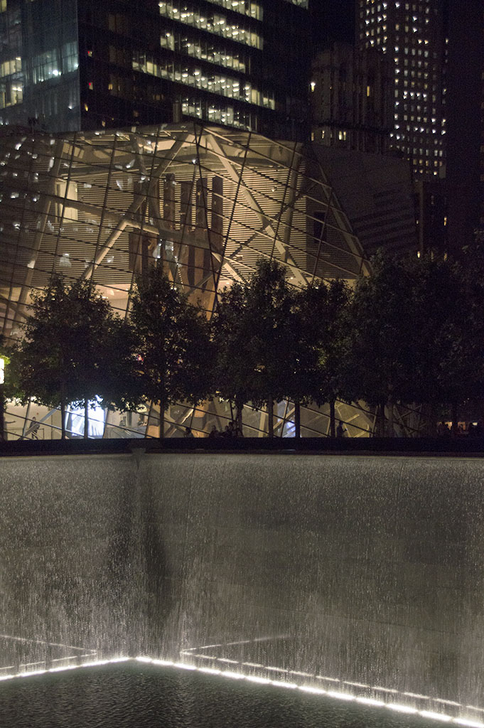 9/11 Memorial and 9/11 Museum night photography