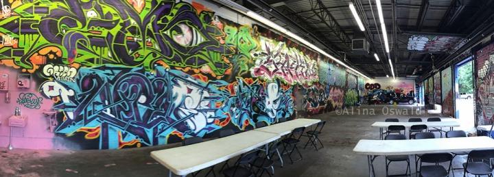 Inside the Demolition Exhibition. Graffiti art. Photos by Alina Oswald.