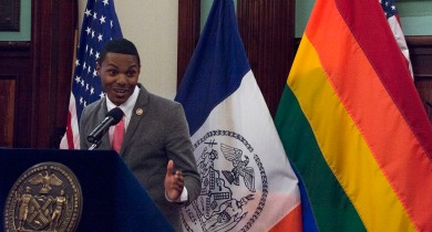Celebration of LGBT Pride event at the Council Chambers, City Hall, NYC