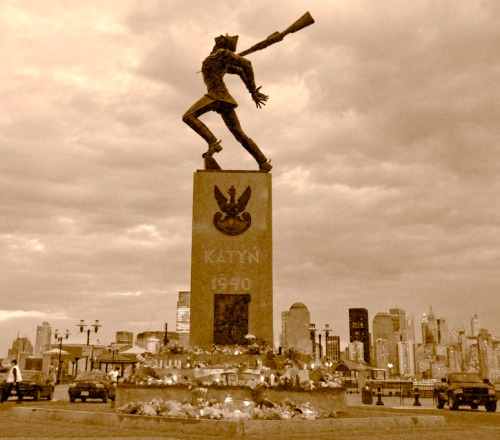 Katyn Soldier Memorial in Jersey City.