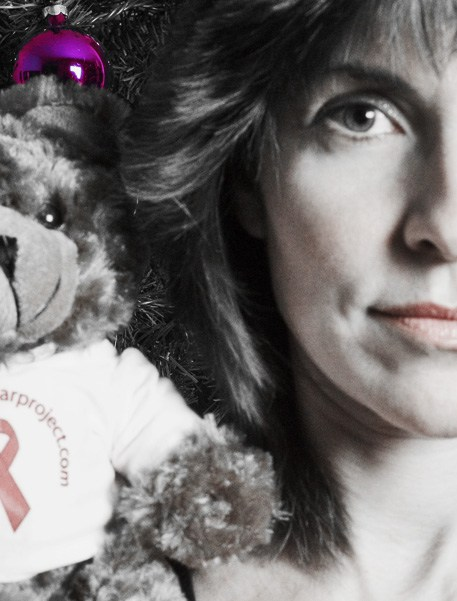 Half-Faces - self-portrait with Dab the AIDS Bear