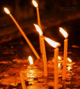 "In some countries there is a local custom for people to visit three monasteries and light, at each monastery, two candles--one candle for the ""Alive"" (people they know and who are still alive) and for the ""Dead"" (people they used to know, who are now dead)."