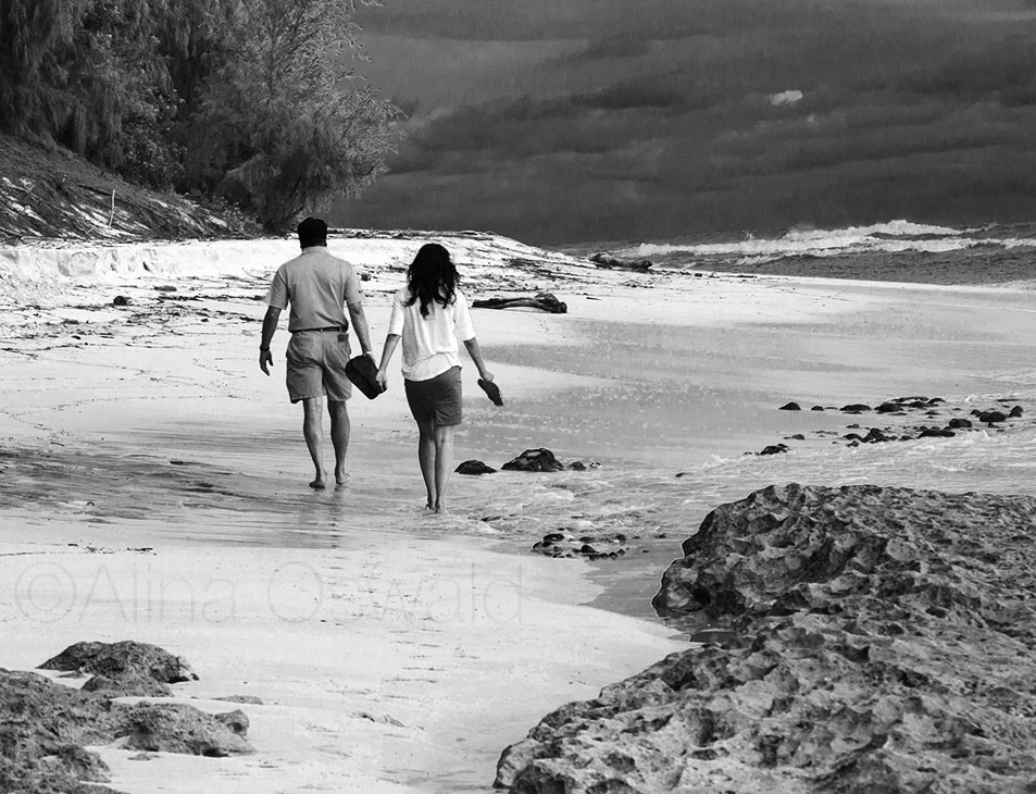 Couple on Remote Kauai Beach