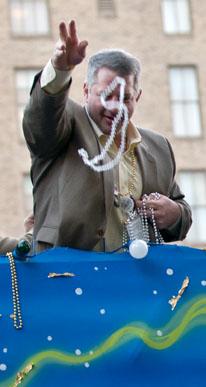 Pre-Mardi Gras Parade and Beads. Photo by Alina Oswald.
