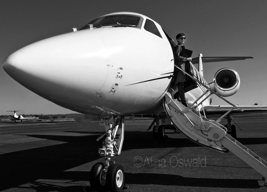 Luxury air travel photography by Alina Oswald.