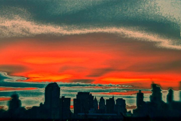 Sunrise over Manhattan. Lensbaby Photography by Alina Oswald.