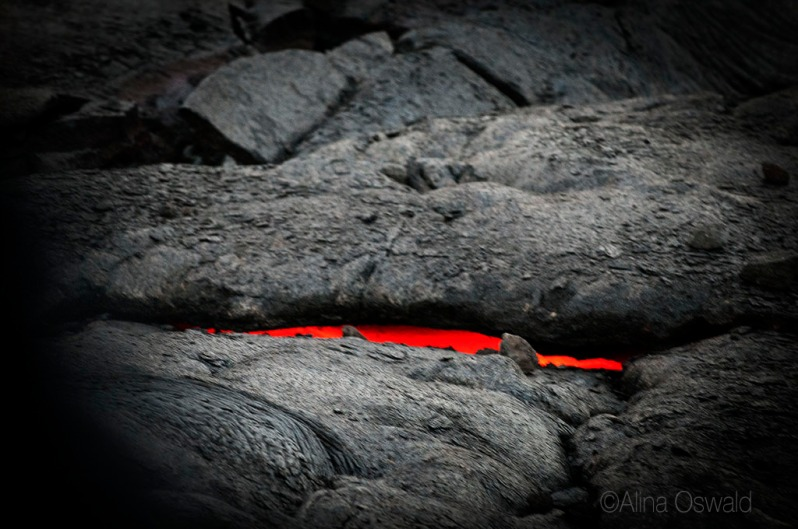 Peeking Through. Lava Photography by Alina Oswald. All Rights Reserved.