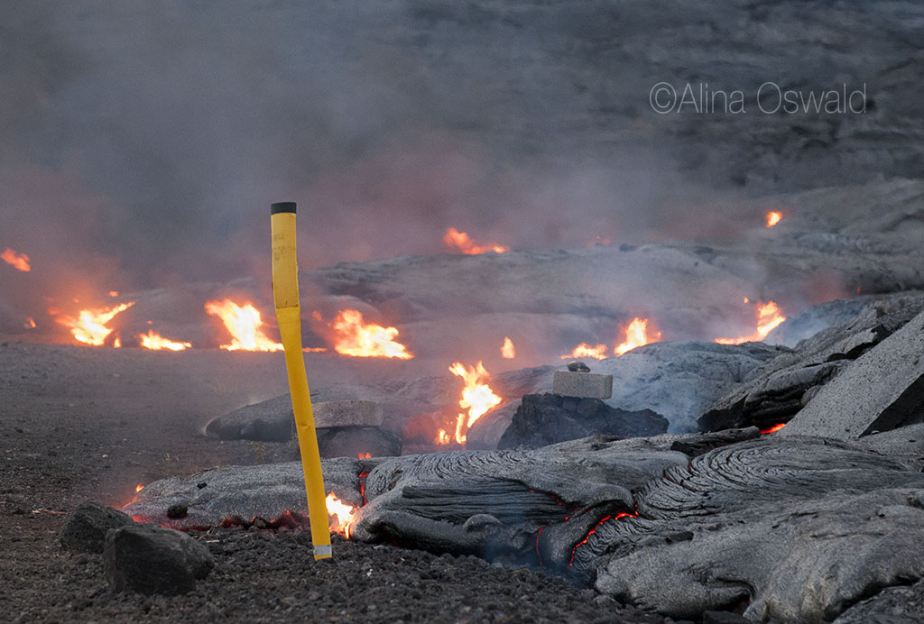 Live Lava Photography by Alina Oswald. Volcano National Park. Big Island of Hawaii.