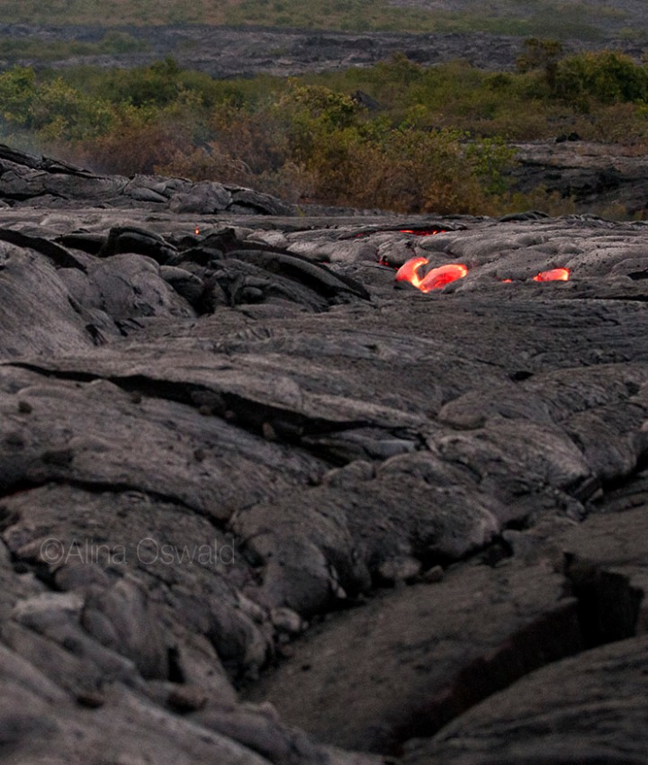 Heart-shaped Lava. Photo by Alina Oswald. All Rights Reserved.