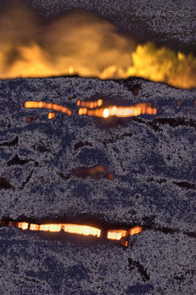 Lava face formed by live lava flow, on the Big Island of Hawaii.