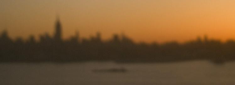 Manhattan Skyline. Pinhole photography by Alina Oswald