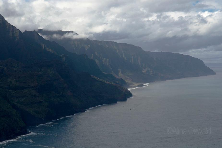 Na Pali Coast. Kauai. Aerial Photography by Alina Oswald.