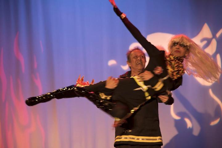 Nick and Eddie Garcia dancing. Photo by Alina Oswald.