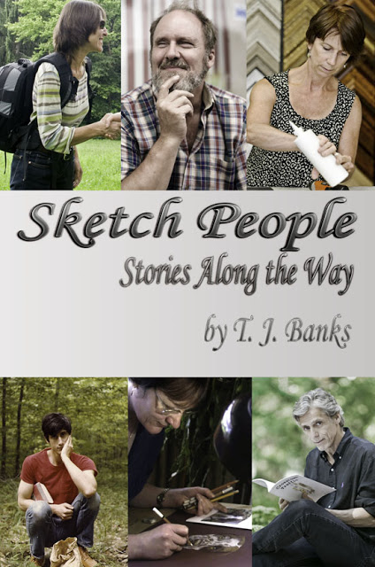 Sketch People - Stories Along the Way, by T.J. Banks. Cover by Alina Oswald.
