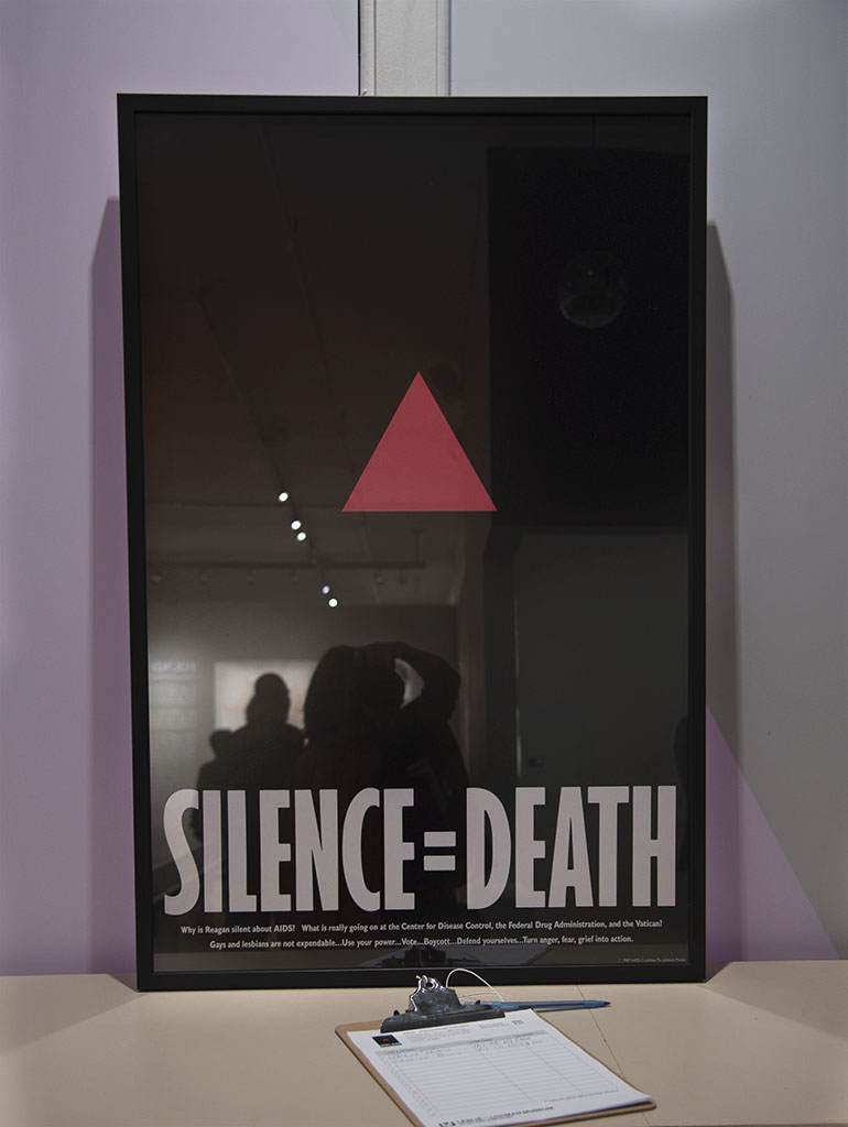 Silence = Death poster at Live Loud Now summer benefit
