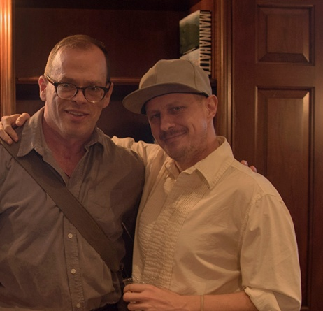 Eric Rhein and Ted Kerr at AIDS at Home, at the Museum of City of New York. Photo by Alina Oswald.