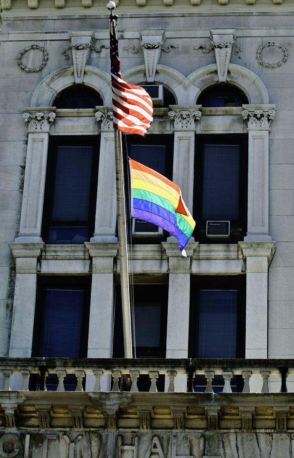 JC Pride at JC City Hall. Photo by Alina Oswald.