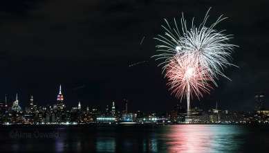 Photographing the NYC Pride 2017 fireworks.