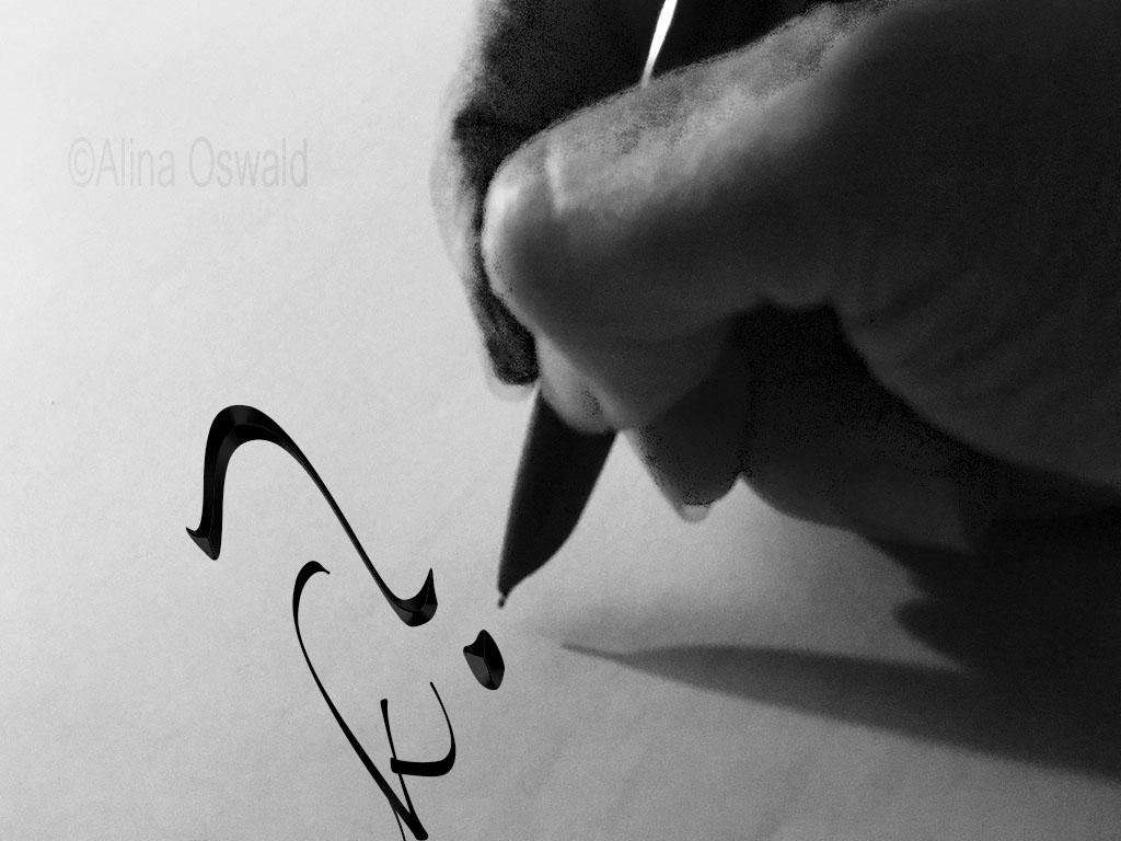 Writing. Caligraphy. Photo by Alina Oswald