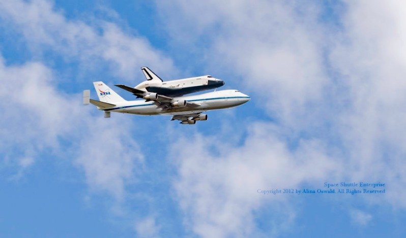 Space Shuttle Enterprise - last flight over NYC Metro area. Photo by Alina Oswald.