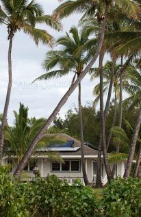 Solar Panels, environmental friendly house in Hawaii. Photo by Alina Oswald.