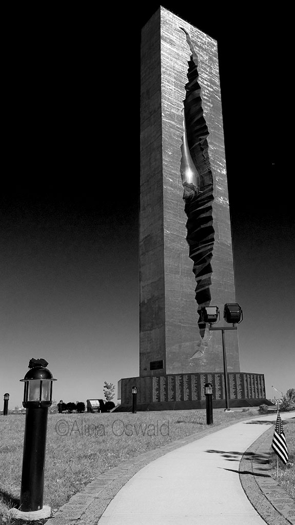 Tear Tower or Tear of Grief 9/11 memorial donated by Russian artist to the US stands now in Bayonne, NJ. Photo by Alina Oswald