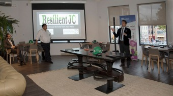 RJC Vice President, Alexander Mirescu, PhD, speaking at Resilient JC launch event. Photo by Alina Oswald.