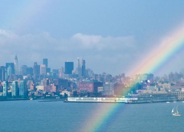 Rainbow Over Manhattan.