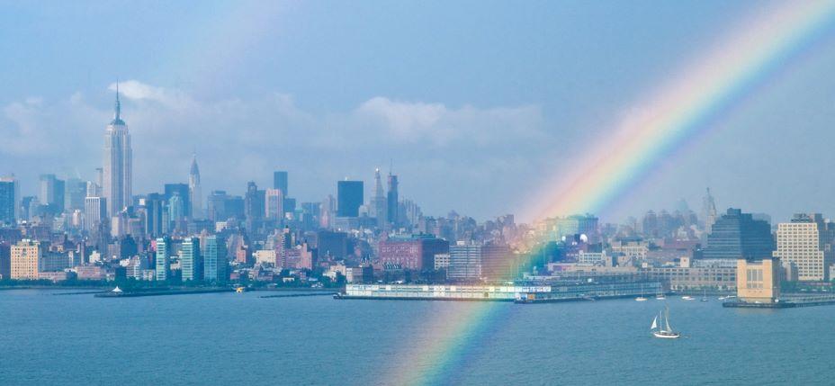 Rainbow Over Manhattan.