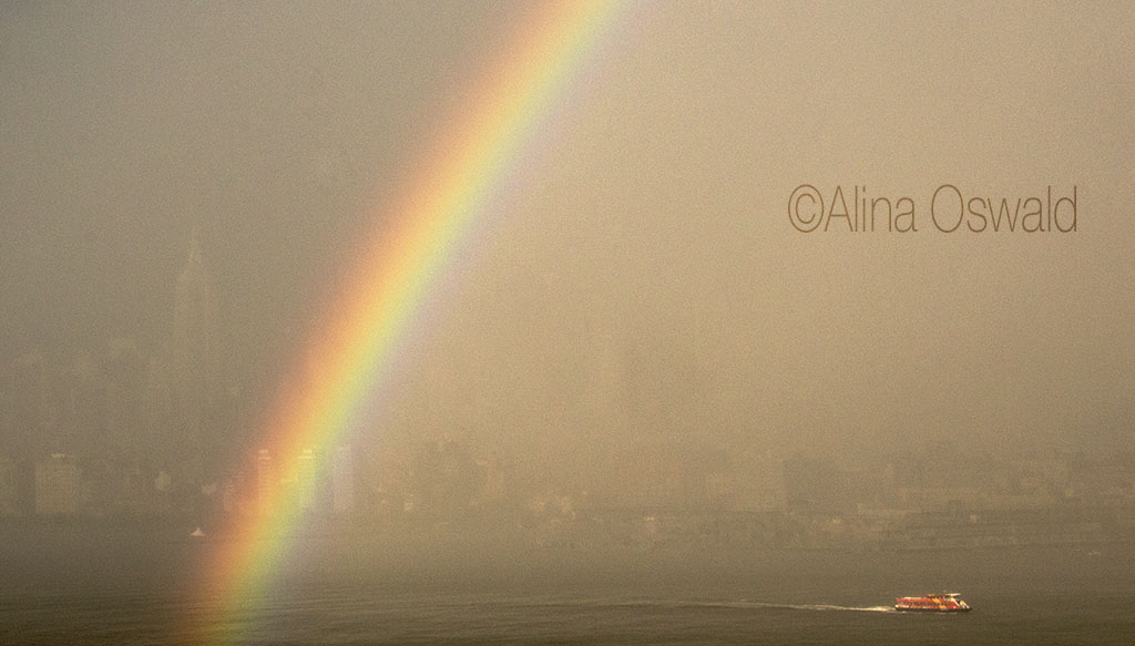 NYC Rainbow and Ferry. Photo by Alina Oswald.
