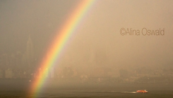 NYC Rainbow and Ferry. Photo by Alina Oswald.