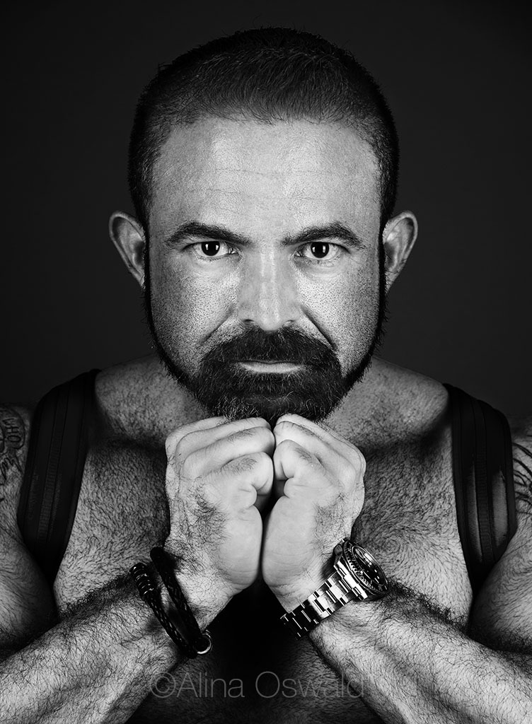 Omar Garcia, advocate, photograph by Alina Oswald for A&U Magazine--America's AIDS Magazine.