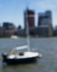 Sailboat. Pinhole Photo by Alina Oswald.