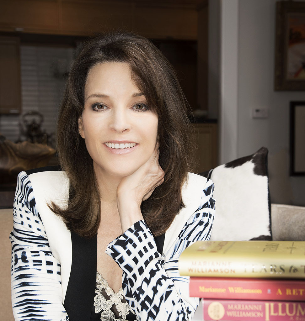 Author and motivational speaker Marianne Williamson photographed by Alina Oswald for A&U Magazine--America's AIDS Magazine.