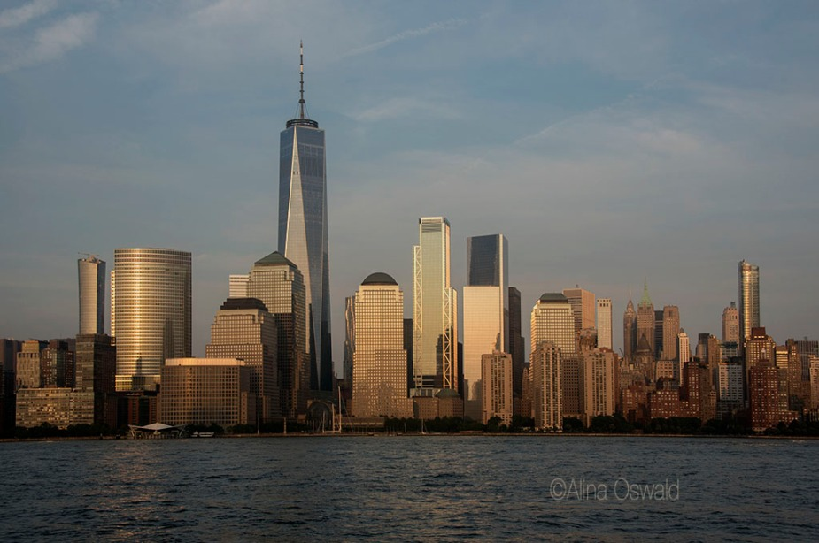 Lower Manhattan at Sunset. Photo by Alina Oswald.