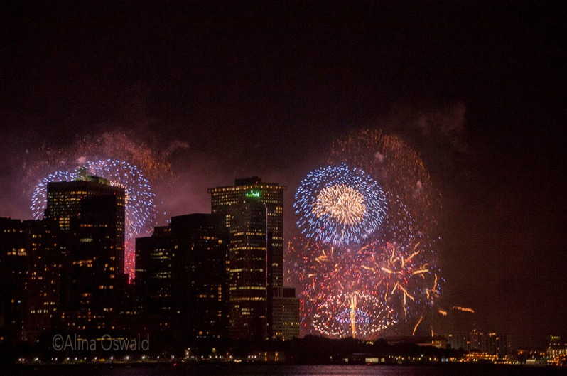 Fourth of July fireworks display in NYC. Photo by Alina Oswald. All Rights Reserved.