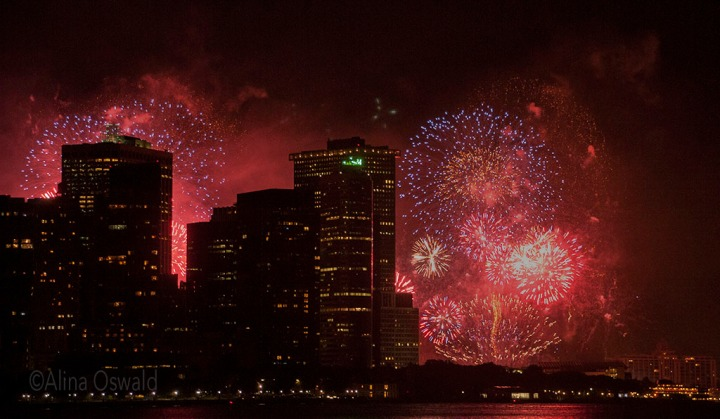 Fourth of July fireworks in NYC. Photo by Alina Oswald. All Rights Reserved.