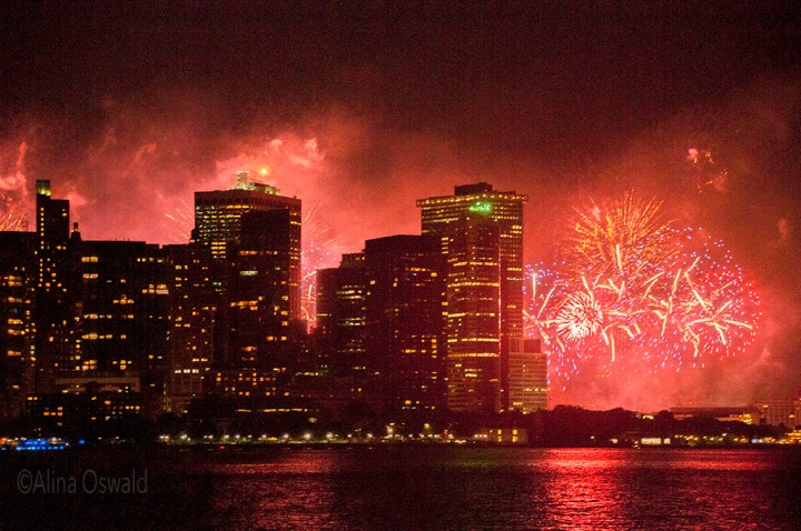NYC 4th of July fireworks.