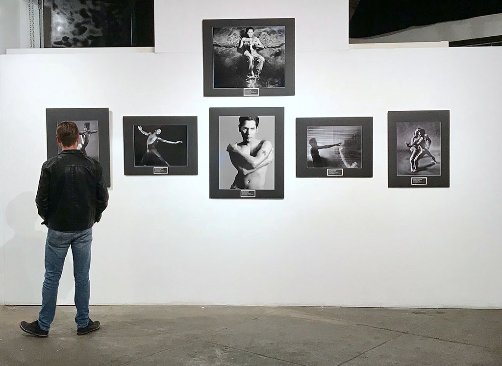 At Kurt Weston's photography show, Remember: An AIDS Retrospective, opening at the Orange County Center of Contemporary Art on World AIDS Day 2018. Photo by Alina Oswald.