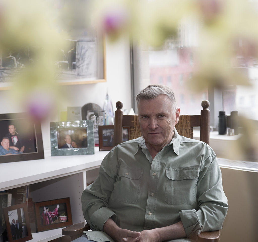 David Mixner photographed by Alina Oswald for A&U Magazine--America's AIDS Magazine.