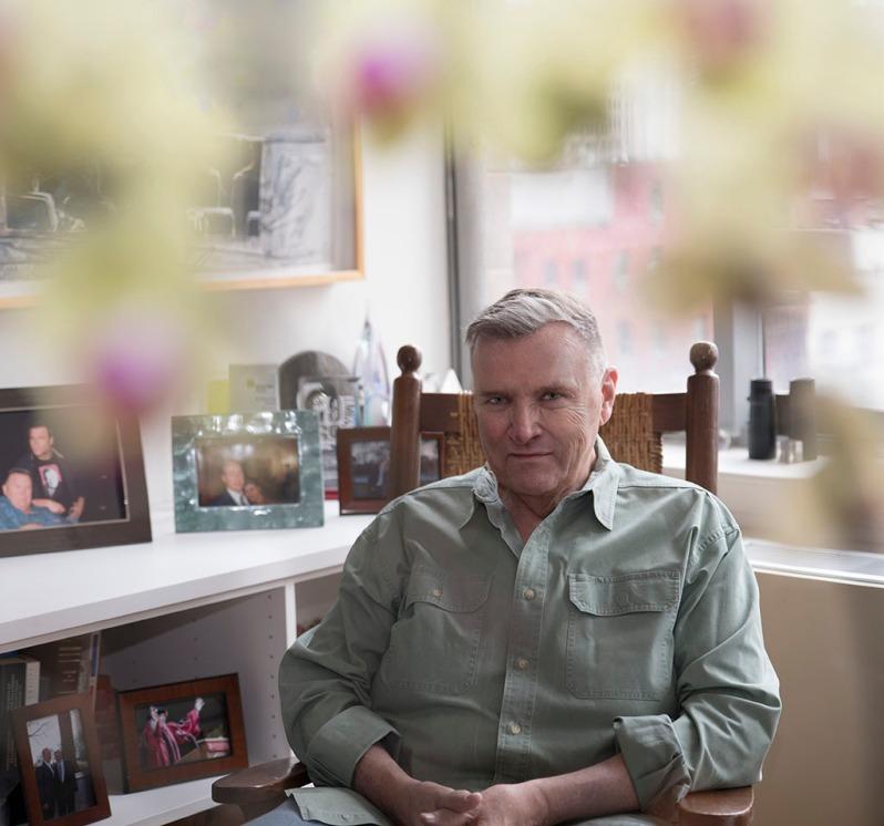 David Mixner photographed by Alina Oswald for A&U Magazine--America's AIDS Magazine.