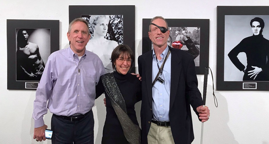 With Terry Roberts and award-winning photographer Kurt Weston attending the opening night of Weston's show, Remember: An AIDS Retrospective, at OCCCA.