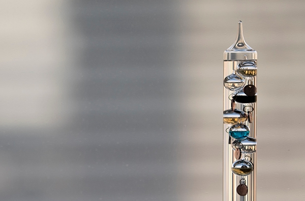 Galileo Thermometer. Product photography by Alina Oswald. All Rights Reserved.