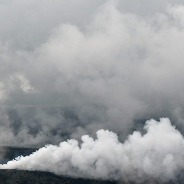 Smoking Lava Fields. Aerial photography by Alina Oswald.
